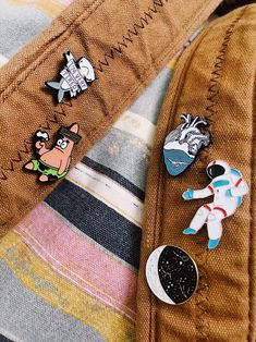3x Enamel Cartoon Mermaid Collar Brooch Pins Badge Corsage Brooch Jewelry  YR
