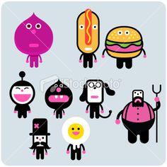 Fast friends character set | Stock Illustration | iStock