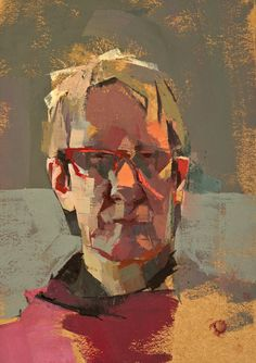 Catherine Kehoe ~ Self-Portrait with Red Glasses Abstract Portrait Painting, Figure Painting, Portrait Art, Painting & Drawing, Portrait Paintings, Acrylic Paintings, Art Paintings, Painting Inspiration, Art Inspo