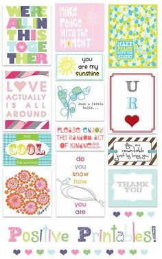These free printables are adorable. They make easy and inexpensive home decor. I love hanging them in my craft room!