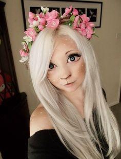 Faun Girl | Makeover #makeup #fawn #halloween #costume #cosplay #fawn #fantasy #faun