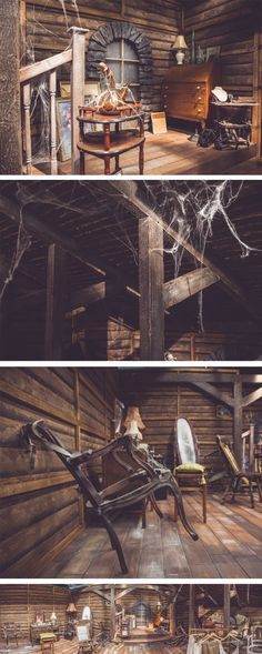 Abandoned attic set designed and produced by Scruffy Dog.
