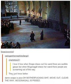 McGonagall is the queen.