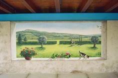 Risultati immagini per finestre dipinte su pareti