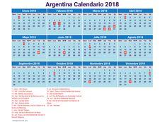 Consultá el calendario de feriados 2018 de la Argentina - CECOliva 2015
