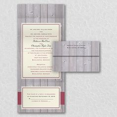Charming Rustic - Seal 'n Send Invitation - Ecru. Available at Persnickety Invitation Studio.