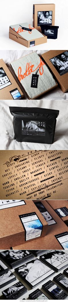 Dirty House interesting #packaging #branding for unusual linens PD