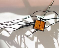 Fall Autumn Jewelry Real Skeleton Leaf by TheHangingGarden on Etsy, $28.00
