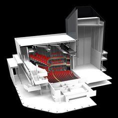 The Marlowe Theatre - Keith Williams Architects, architectural model, maquette, maqueta
