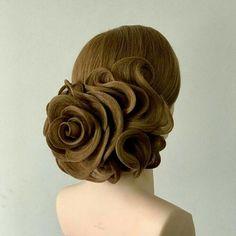 Hair by 😎😎😎😎😎 Fancy Hairstyles, Creative Hairstyles, Long Hair Designs, Peinado Updo, Competition Hair, Hair Academy, Hair Up Styles, Ballroom Hair, Fantasy Hair
