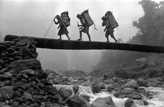 Marc Riboud NEPAL. Return of Swiss expedition to Everest.