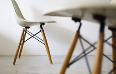 White + Wood. Eames DSW Chair