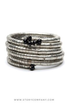 New Silver Wrap bracelet!  Get it here: http://storycompany.com/collections/metallic-line-2012.html