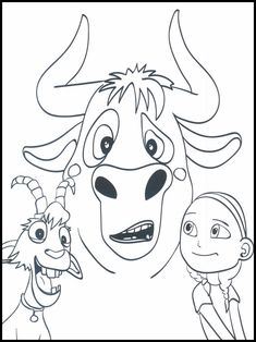 Il toro Ferdinando - Ferdinand da colorare 25