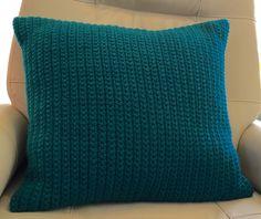 Crochet pillow. Single crochet