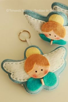 better homes and gardens felt animal ornaments with sequins Felt Christmas Decorations, Felt Christmas Ornaments, Angel Ornaments, Christmas Tree, Angel Crafts, Felt Crafts, Holiday Crafts, Christmas Sewing, Christmas Crafts