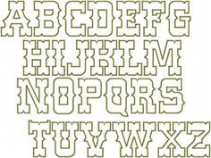 Western Font Alphabet Letters