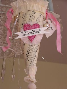 Valentine Cone from  freckledfarm's photostream. Beautiful creations