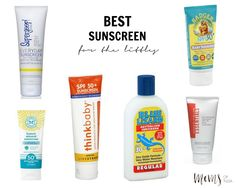A list of a few of the best, safest and most pure sunscreens on the market for kids.