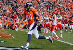 Denver Broncos tight end Jacob Tamme (84) celebrates his touchdown against the Kansas City Chiefs during the first half of an NFL football game Sunday, Sept. 14, 2014, in Denver. (AP Photo/Jack Dempsey) - ESPN--  #ProFootballDenverBroncos