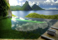 Most Spectacular Pools Jade Mountain- St.Lucia