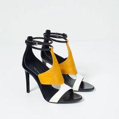 SANDALES À TALONS ENVELOPPANTES-Chaussures et sacs-FEMME-NOUVEAUTÉS   ZARA France http://amzn.to/2tlnML6