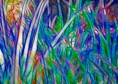 Aloe Abstract Painting by Omaste Witkowski .
