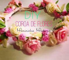 Coroa de flores, vamos aprender a fazer essa coroa de flores que nem parece que foi feita com flores artificiais DIY