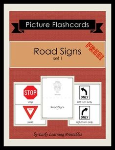 Road Signs (set I) Picture ... by Early Learning Printables | Teachers Pay Teachers