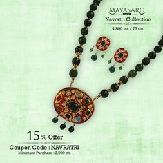 #Navratri Collection - #necklace & stunning #pendant with Navratna stones @ #BigBillionDays