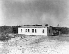 Construction of Cape Canaveral's central control building 1951