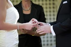 It is traditional for a couple to exchange wedding rings after they say their vows. Since these rings are symbols of the marriage, the words said during a ring exchange should reflect the couple's hopes for their marriage. These words may be simply incorporated into the wedding vows, or treated as a separate ritual. Here is some example wording to use during your ring exchange or ring ceremony