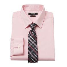 Men's Apt. 9® Slim-Fit Dress Shirt & Tie Set, Size: Xl-34/35, Pink