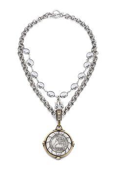 French Kande Swarovski Medallion Necklace