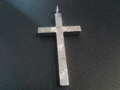 big sterling silver cross engraved by wrightjewels on Etsy, £99.00