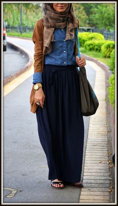 #maxi #skirt #style Great #hijab #outfit