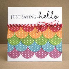 so easy! twine, circles, polka dots--all my favs