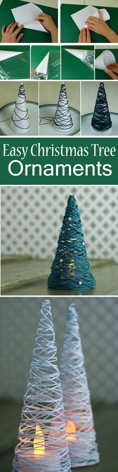 This Easy Christmas Tree Ornaments will look fantastic on your Christmas table.