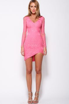 HelloMolly   Flash Of Light Dress Hot Pink - New In