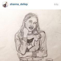 Great fan art of me by @shanna_dellep. I love fan art. Let's ship fan art. - fart. Send me ur best fart. I might post it.