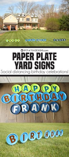 Come see how to make a social distance birthday special by creating a paper plate yard sign featuring a special birthday message! Happy Birthday Yard Signs, Birthday Posts, Birthday Fun, Birthday Celebration, Birthday Message, Special Birthday, Diy Birthday Sign, Birthday Ideas, Birthday Morning