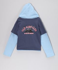 Look what I found on #zulily! Dark Blue 'Old Cars Club' Layered Hoodie - Infant, Toddler & Boys #zulilyfinds