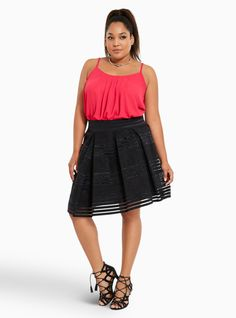 plus size velvet floral print pleated skater skirt, floral