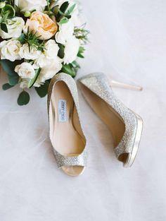 d08eb14d3a8d Elegantly Classic Laguna Beach Wedding from Esther Sun Photography · Rose Gold  Wedding ShoesLace ...