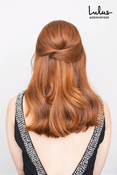 A half-up hairstyle is a party-season MVP: effortlessly pretty and just 'done' enough. Here's how to easily DIY a criss-cross style that's sexy and sleek. hair style Hair How-To: This Criss-Cross Half-Up Hairstyle is Your Party Season Secret Weapon Pretty Hairstyles, Braided Hairstyles, Step Hairstyle, Medium Hairstyle, Formal Hairstyles, Hair Up Hairstyles, Wedding Half Up Hairstyles, Prom Hairstyles Half Up Half Down, Easy Prom Hairstyles