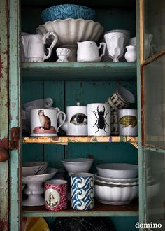 rustic cabinet for dish storage