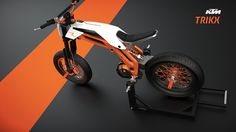 """School project with the brief : """"Design a leisure bike for 2020, for KTM""""We designed a vehicle that is light, that uses the potential of future electric engines, that offers a new riding experience with less danger and more sensations. KTM TRIKX is …"""