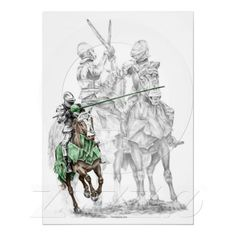 Medieval Knight on Horse Jousting Print