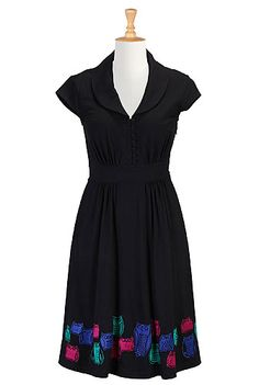 I <3 this Hoot couture cotton knit dress from eShakti