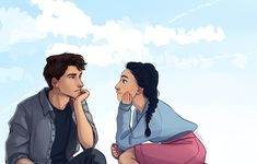 Lara Jean and Peter K from To All the Boys I've Loved Before by Jenny Han. Art by Lara Jean, Peter K, Patriotic Pictures, Cute Love, My Love, Daughter Of Smoke And Bone, Jenny Han, Fanart, Boy Art